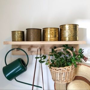 Nesting Brass Canisters